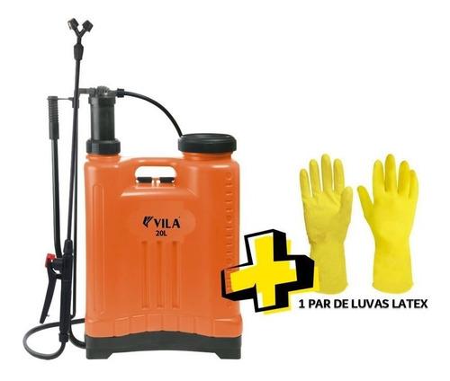 Pulverizador / Bomba Veneno Manual 20l + 1par De Luvas