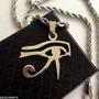 Olho Horus Udyat Corrente E Pingente Aço Egito Tudo Vê