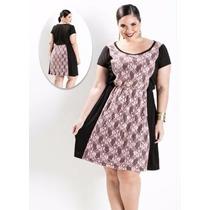 Vestido Recorte Em Renda Promoção - Plus Size