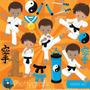 Kit Digital Arte Marcial Jiu Jitsu Judô Menino Imagens Png