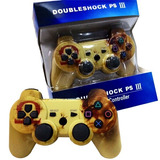 Controle Ps3 Sem Fio Dualshock Gold War Wireless C/cabo Nf