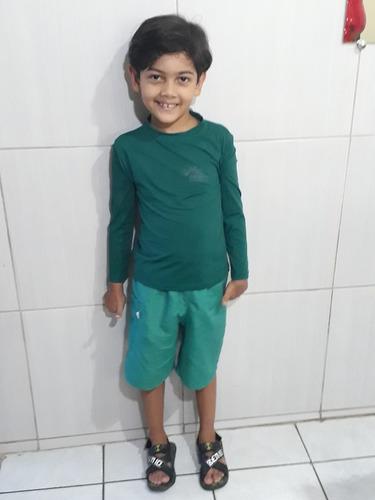 Camisa Térmica Infantil 2ª Pele Com Proteção Solar Uv 50 + - R  36 ... e93dcdabff6c6