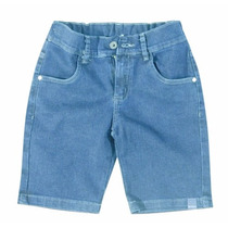 Bermuda Jeans Infantil Menino Carinhoso C62168