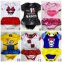 100 Und Body Bori Bodies Infantil Engraçado Princesas P M G.