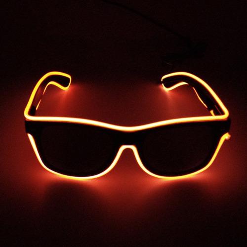 838ae6e00477e 10 Óculos Led Neon Lente Escura Frete Grátis Escolha Cores