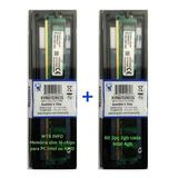 Kit 2 Memória Kingston Ddr2 2gb 667 Mhz Pc2 4gb Dual Chip