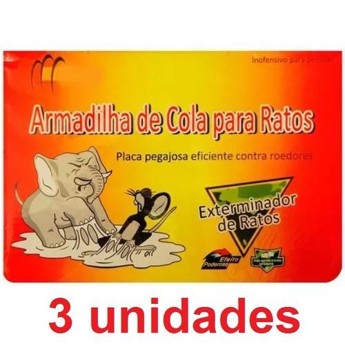 Frete Grátis 3 Ratoeira Adesiva Pega Rato Armadilha Promoção