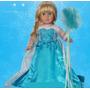 Fantasia Frozen Elsa Para Bonecas Tipo American Girl