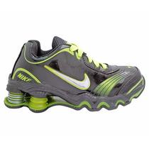 Tênis Para Criança Nike Shox Turbo Preto E Verde Limão