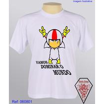 Camiseta Personalizada Infantil Desenhos Kick Buttowsk