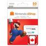 Cartão Nintendo Eshop Canadá 50 Dólares - Eshop Canadense