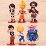 Kit Dragon Ball 6 Pcs Goku Gohan Satan Vegeta Videl Dabura