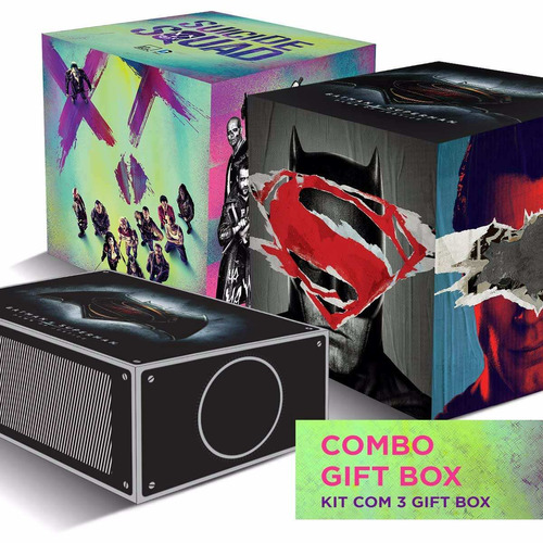 Combo 2 Gift Box Batman Vs Superman + 1 Esquadrão Suicida