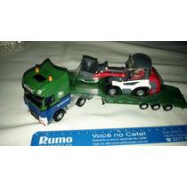 Miniatura De Caminhão Prancha Escavadeira 1/50 Kdw Kaidiwei