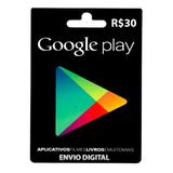 Crédito Google Play Store Gift Card R$30 Reais Br Android