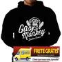 Blusa Moletom Gas Monkey Capuz E Bolso Gasmonkey Camiseta