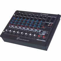 Mesa De Som Mixer Starmix Ll Sa802r 8 Canais Efeito Estéreo