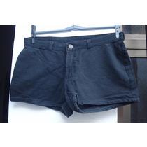 Shorts Em Algodao C/ Elastano Tam 42