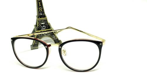 a1cd7f4cf Óculos Armação De Grau Feminino Redondo Geek Frete + Brinde à venda ...