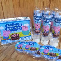 Kit Aniversário Peppa Pig E George Festa Infantil 60 Itens