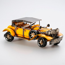 Enfeite Forma Carro Antigo Amarelo Ferro 21,5x9,5x9 R 30028
