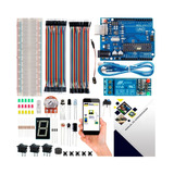 Mini Kit Arduino Uno R3 Básico Iniciante Start Sensor Brinde