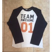 Lote Com 6 Camisas De Malha Para Meninos Importadas - Usadas