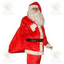 Roupa Para Festa De Natal - Papai Noel Em Veludo - Kit 7 Pçs