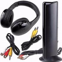 Fone De Ouvido Sem Fio Wireless 5 In 1 Mp3 Pc Tv Dvd Mp3