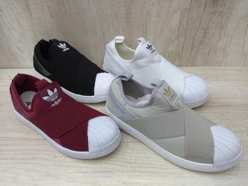 Tênis adidas Superstar Slip On Feminino Masculino Original. Preço  R  129 9  Veja MercadoLibre cb5127ebe2184