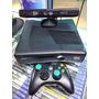 Xbox 360 Desbloqueado Rgh, 100 Jogos! 2 Controles E Kinect Original