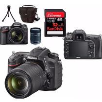 Câmera Nikon D7200+18-140+bolsa+tripé+32gb C/10+kit Limpeza!