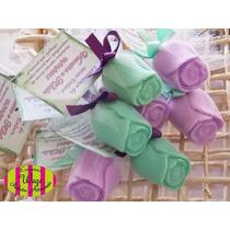 10 Mini Sabonete Botão De Rosa Lembracinha - Brindes - Kit