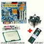 Kit Placa Mãe 775 Ddr2 + Celeron D430 + 2gb Ddr2 + Cooler
