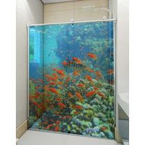 Adesivo Transparente Decorativo Para Box Banheiro E Vidro