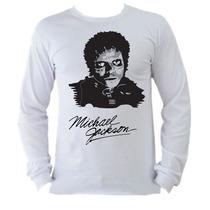 Camisetas Michael Jackson Thriller Manga Longa Adulto 2