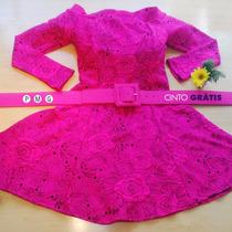 Vestido Feminino Godê Curto Princesa Cintura Marcada P M G