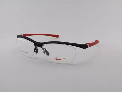 c8becbaa5d081 Armação Para Óculos De Grau Nike Preto-vermelho