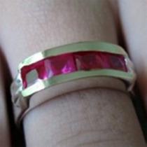 Aparador Aliança Ouro Puro Prata Pura Diamante Sintético