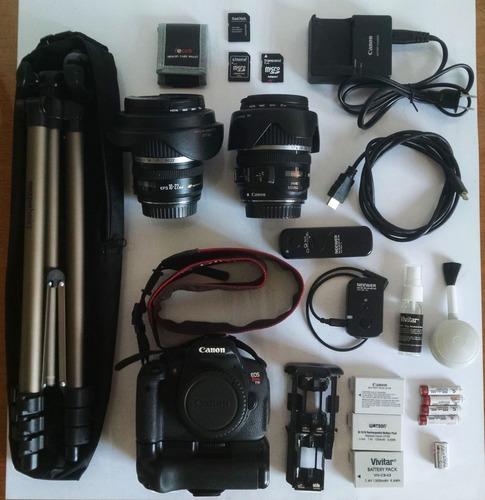 Kit Canon Rebel T5i Efs + 10-22 Mm + 17-85 Mm + Extras