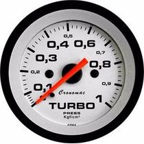 Manômetro Turbo 1kg Linha Street Cronomac Fundo Branco
