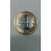 Moeda Rara Comemorativa De 1 Real 50 Anos Do Banco Central