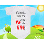 Body Bebe Vou Pra Casa Da Titia Titia Dinda Frases Divertido