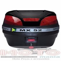 Baú Bauleto Para Moto - Marca Mixs - 52 Litros - Preto