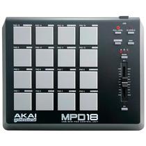 Akai Mpd18 - Controladora De Pads + Nota Fiscal + Gtia.1 Ano