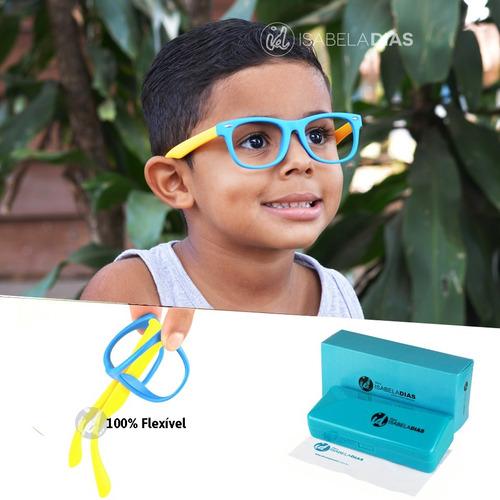 Armação Óculos Grau Flexível Infantil Original 4-10 Anos 227. R  89 2084e29551
