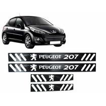 Soleira Vinil Preto Fosco Peugeot 207 4 Portas