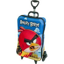Mochila Escolar Mochilete 3d Angry Birds Red + Lancheira