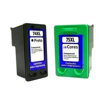 Kit 2 Cartuchos Compatível Hp 74xl E 75xl D4260,d4280,d4360