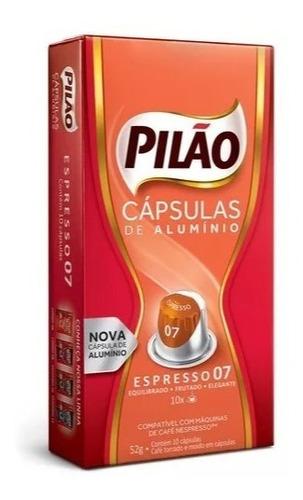 Kit 100 Cápsulas Alumínio Compatível Nespresso Café Pilão 07